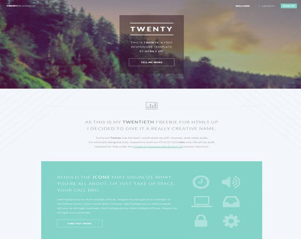 Twenty HTML5 CSS3 Website