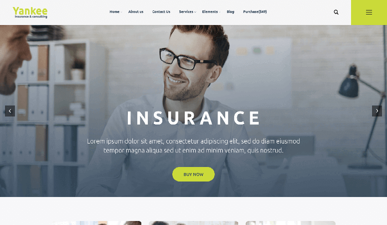 Yankee Best Responsive Insurance WordPress