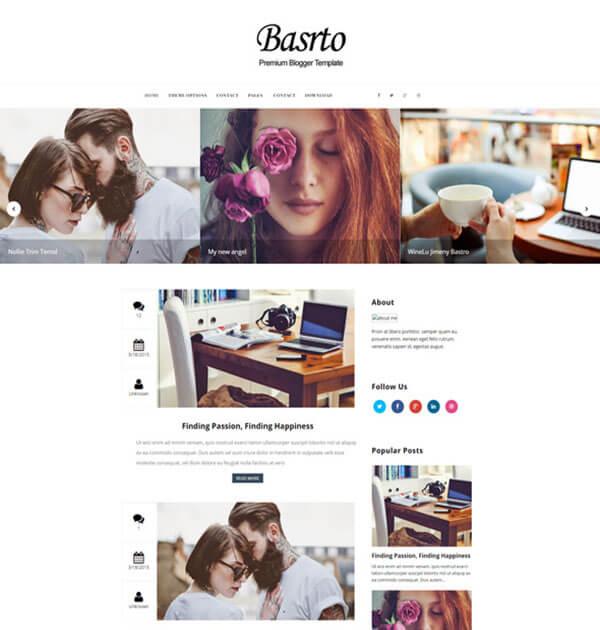 bastro Free Responsive Blogger Template
