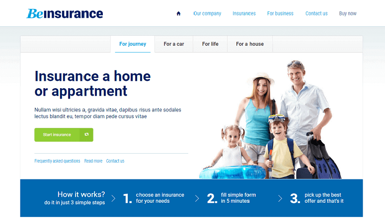 beinsurance WordPress Theme