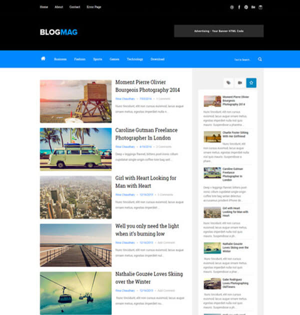 blogmag Free Responsive Blogger Template