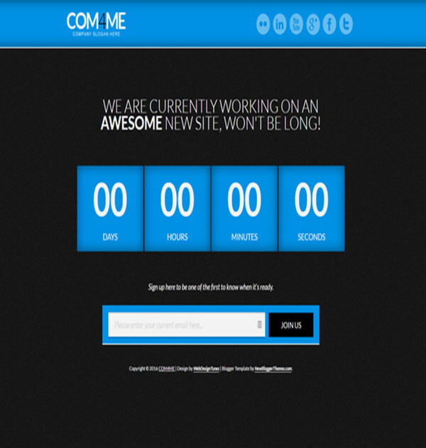 coming soon Best Free Responsive Blogger Template