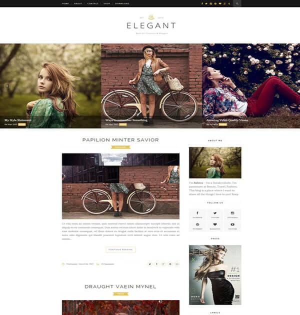 elegant Responsive Blogger Template