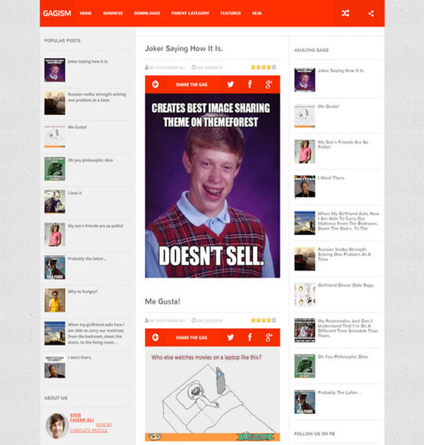 gagism Responsive Blogger Template