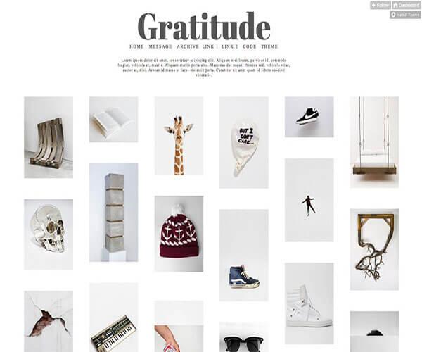gratitude Tumblr Theme