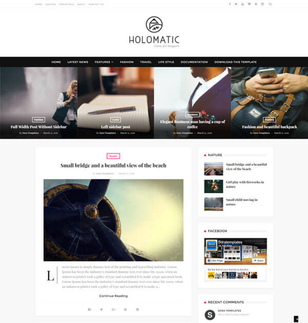 holomatic Best Free Responsive Blogger Template