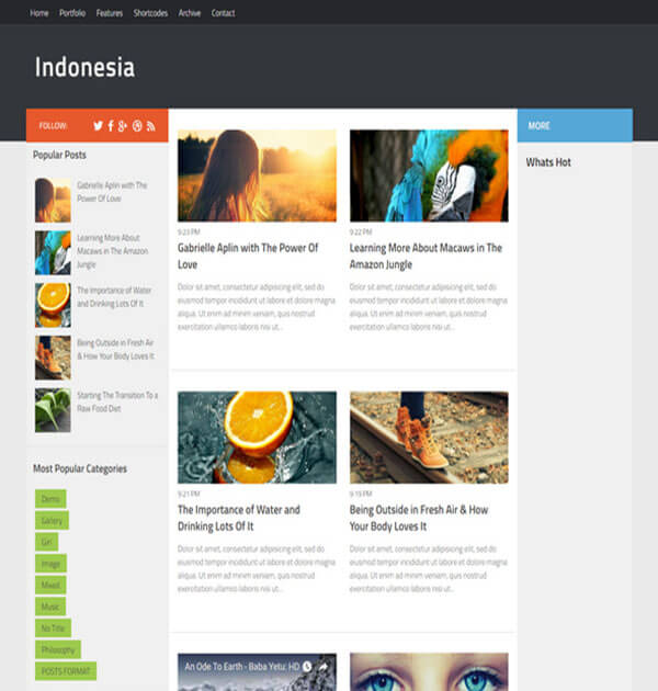 indonesia Best Free Responsive Blogger Template
