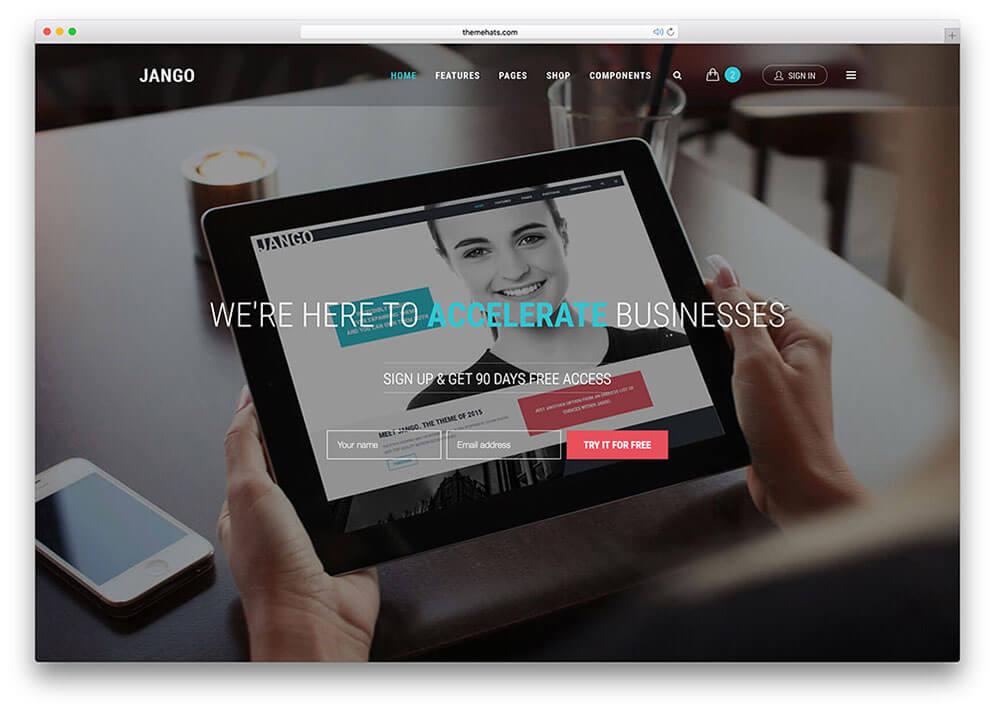 jango CSS3 Website 1