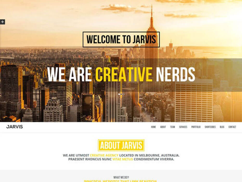 jarvis One Page WordPress