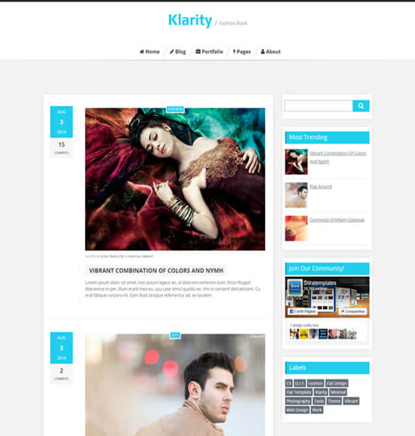 klarity Best Free Responsive Blogger Template