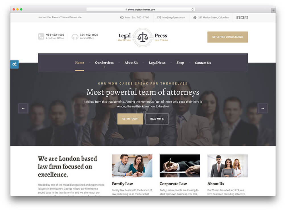 legalpress Insurance WordPress