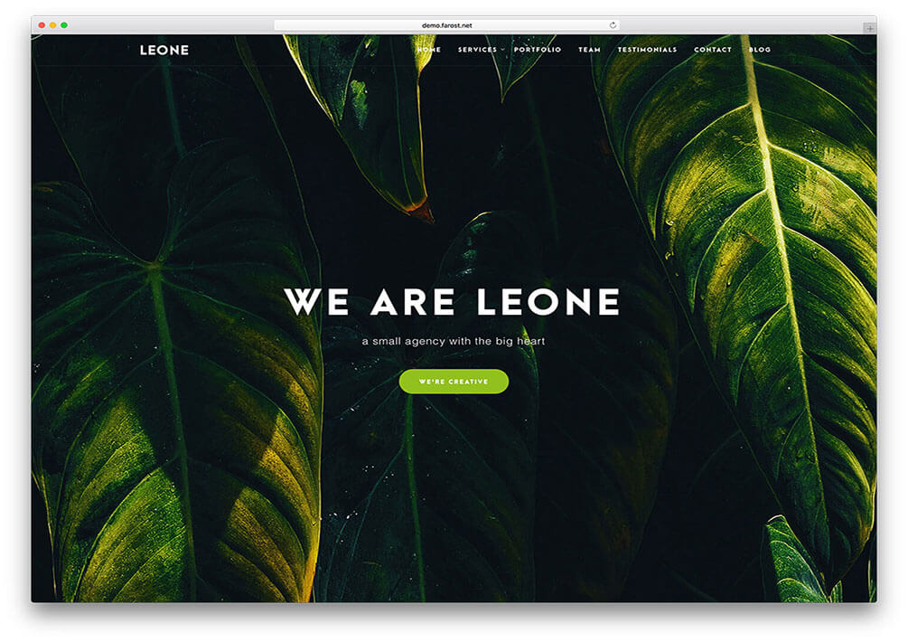 leone One Page WordPress