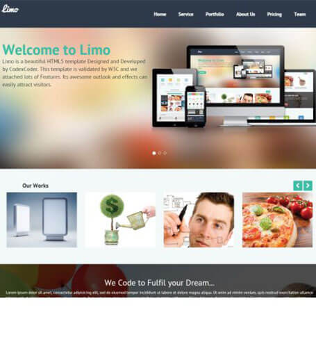 limo One Page WordPress