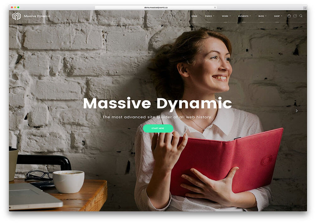 massive dynamic One Page WordPress