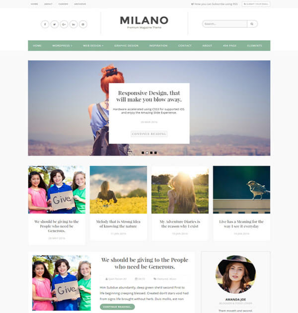 milano Free Responsive Blogger Template