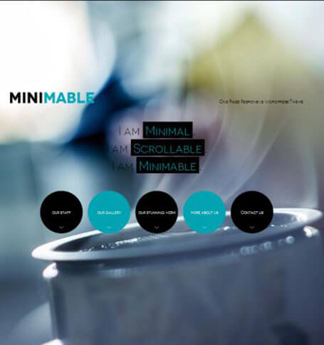 minimable One Page WordPress