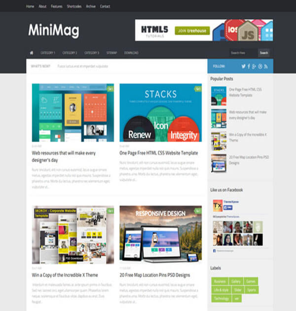 minimag Best Free Responsive Blogger