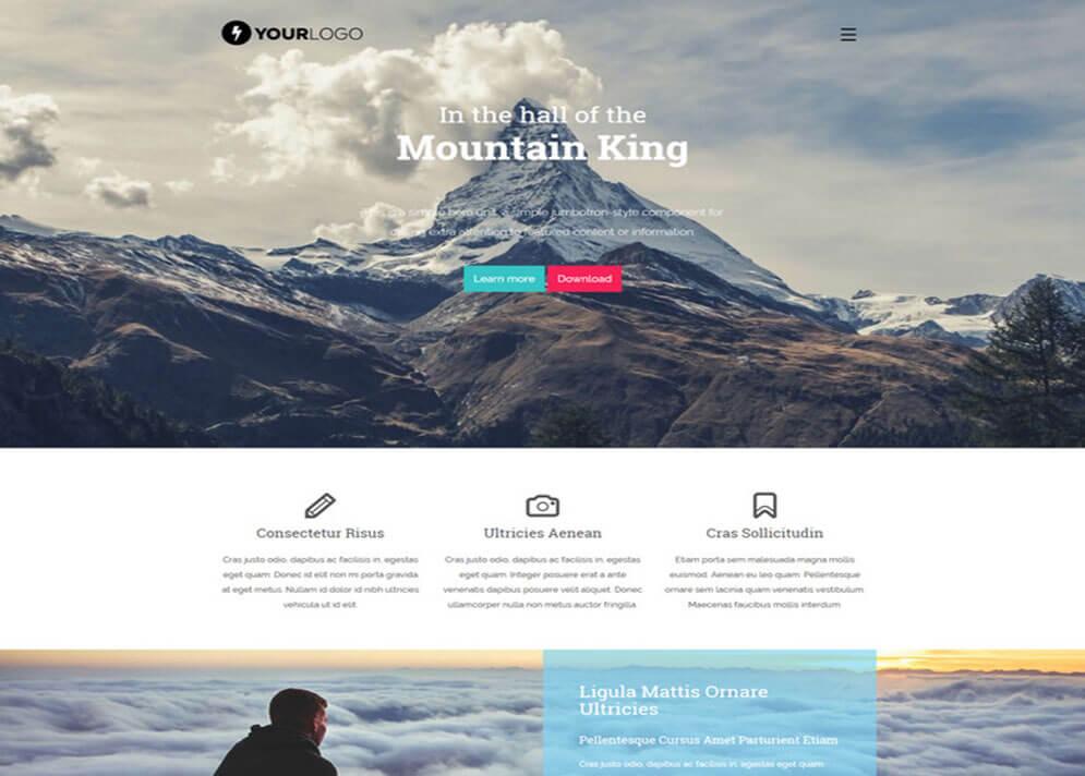 mountain Website Template