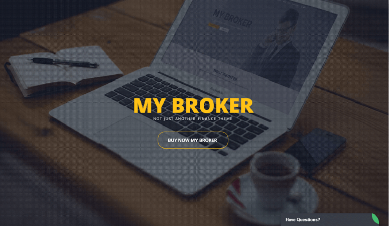 my broker Insurance WordPress Theme