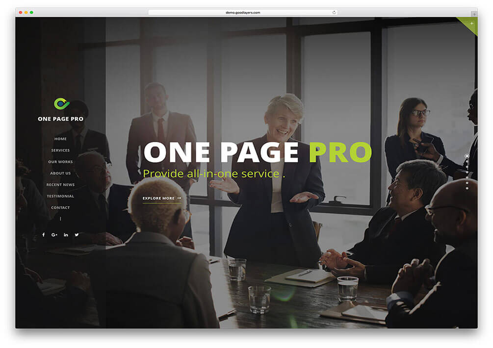 onepagepro WordPress Theme