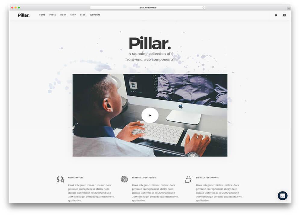 pillar Best Responsive HTML5