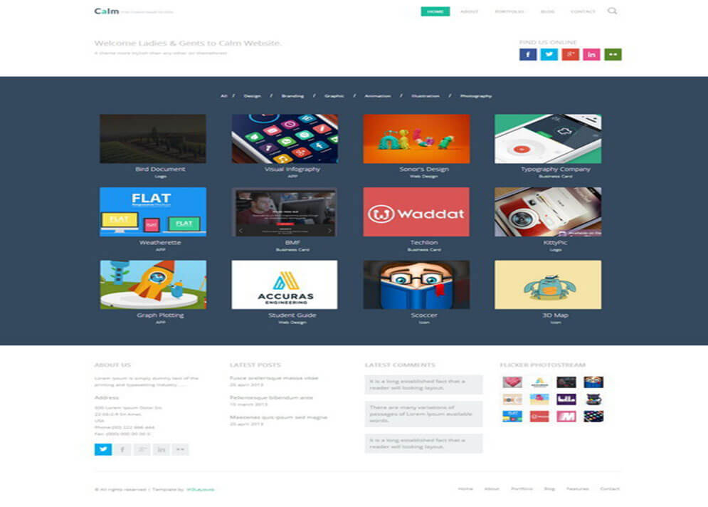 portfolio Best Responsive HTML5