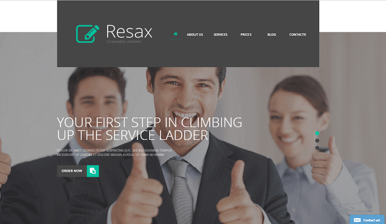 resax Insurance WordPress Theme