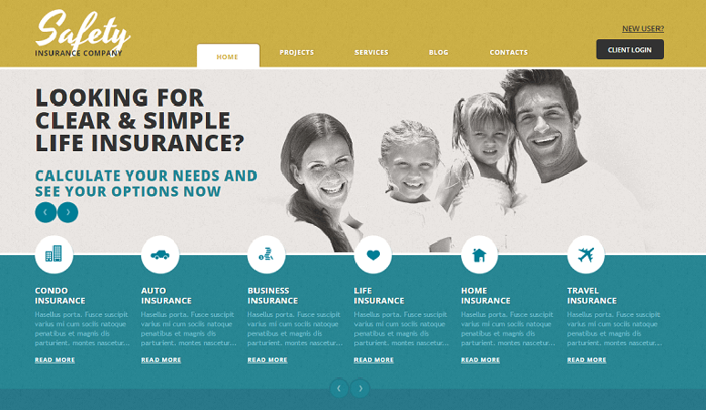 safety insurance Insurance WordPress Theme