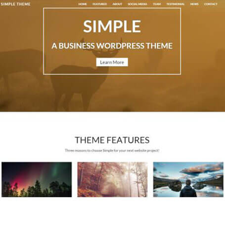 simple Responsive One Page