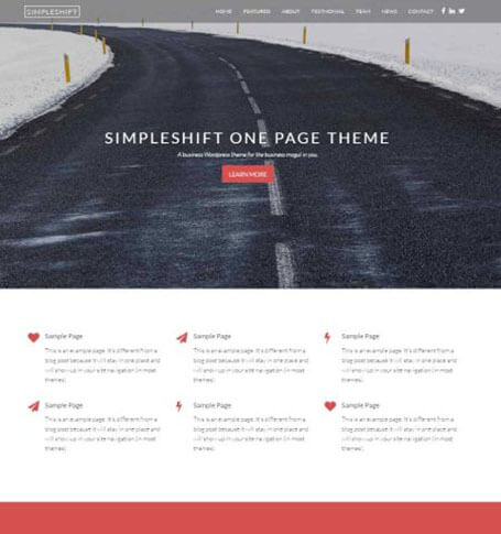 simpleshift Responsive One Page