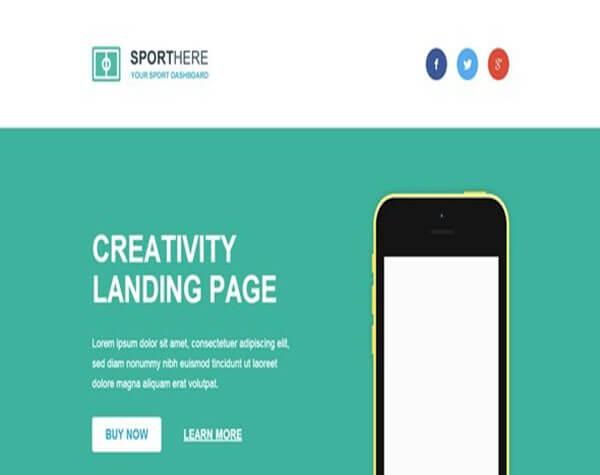 sport Responsive HTML5 CSS3