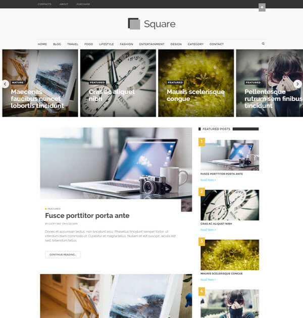 square Best Free Responsive Blogger