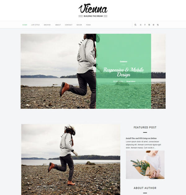 vienna Free Responsive Blogger Template