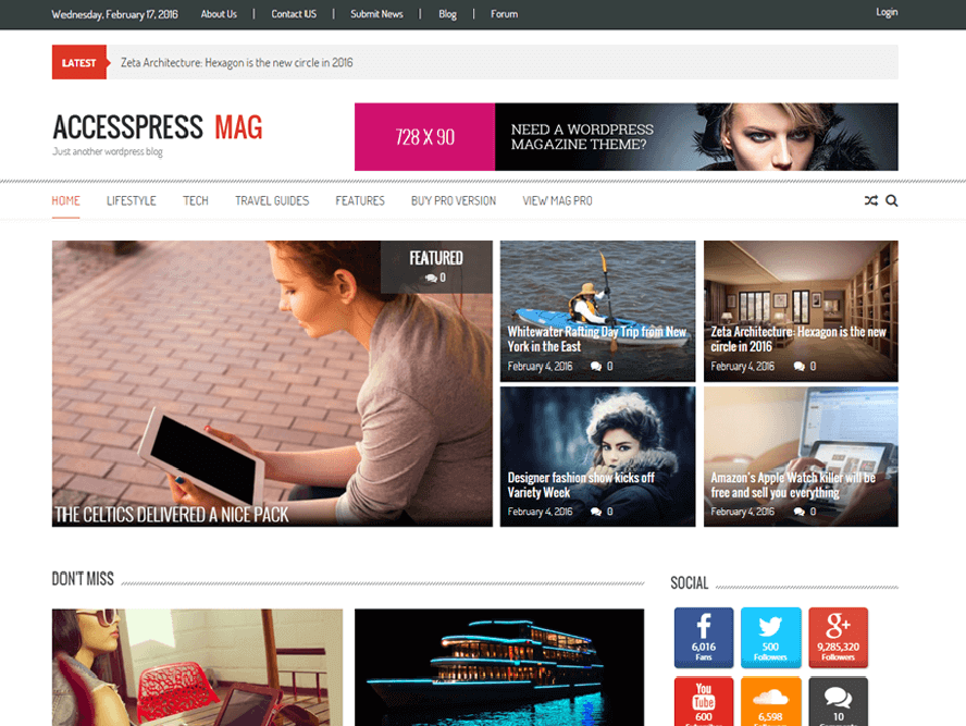 AccessPress Mag Bes Free Responsive Magazine
