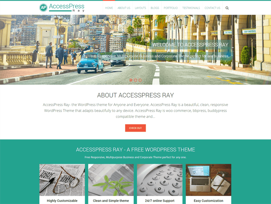AccessPress Ray Best Free Photography WordPress Themes 3