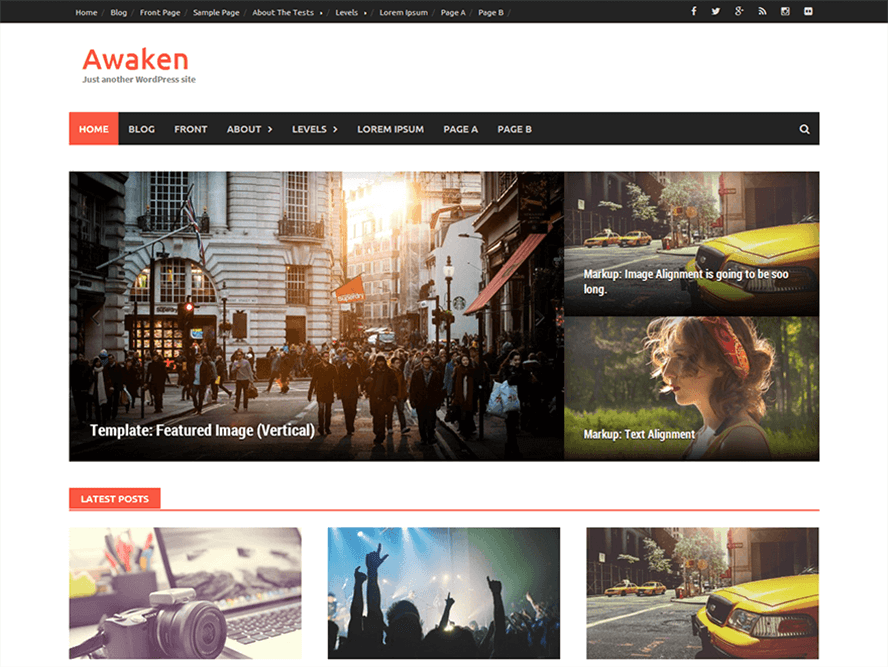 Awaken Best Free Responsive Magazine