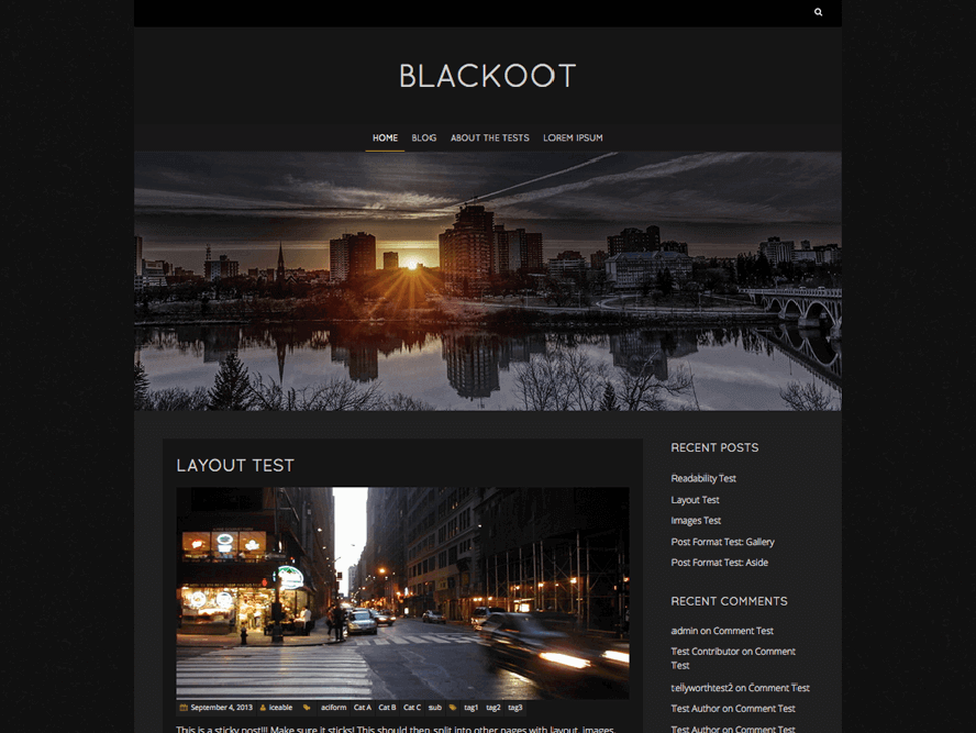 Blackoot Lite Best Free Photography WordPress Themes 3