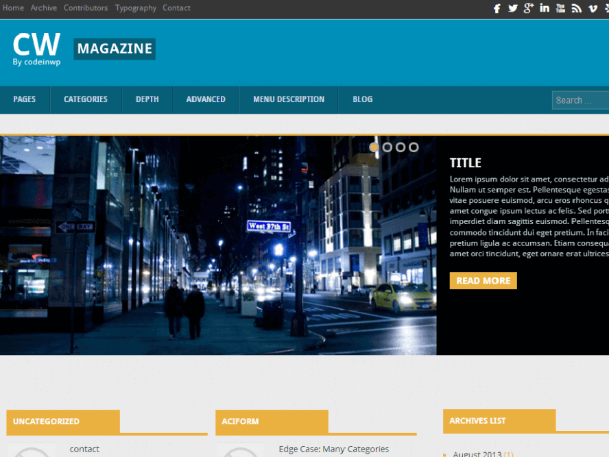CW Magazine Best Free Responsive Magazine