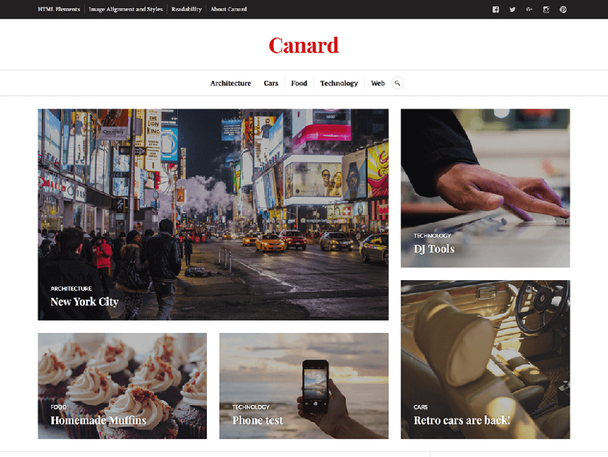 Canard Best Free Photography WordPress Themes 3