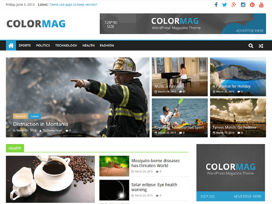 ColorMag Best Free Responsive Magazine