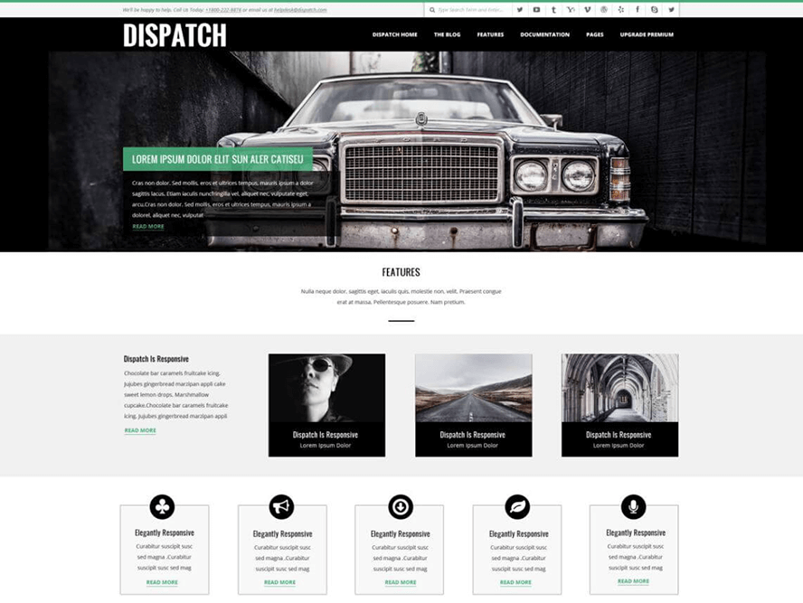 Dispatch Best Free Photography WordPress Themes 2