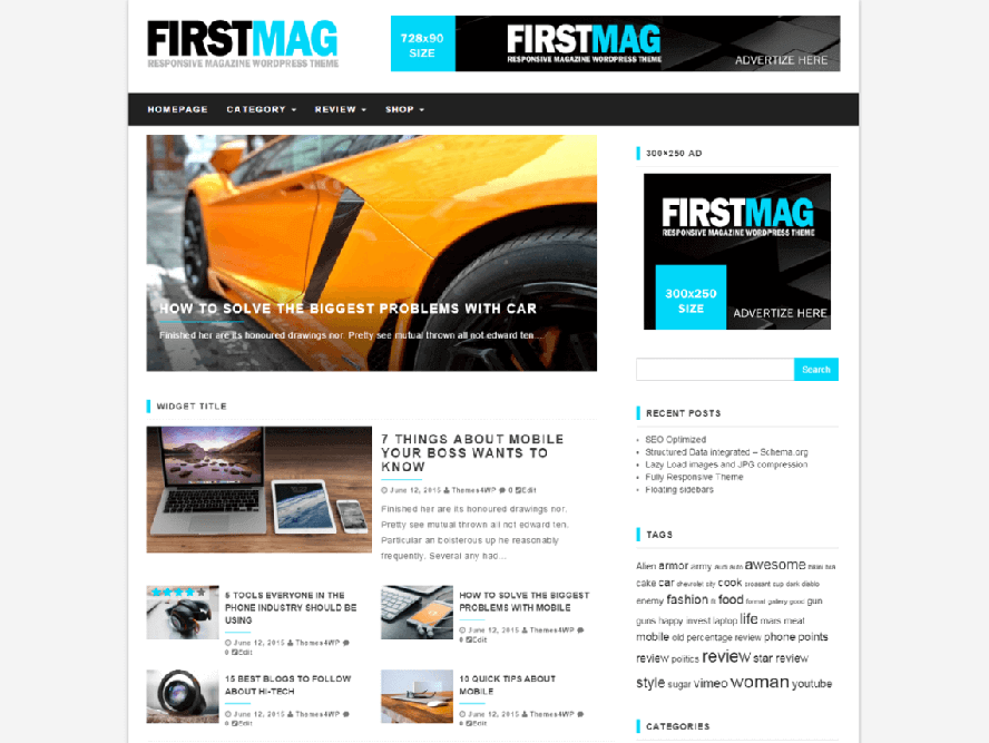 First Mag Responsive Magazine WordPress