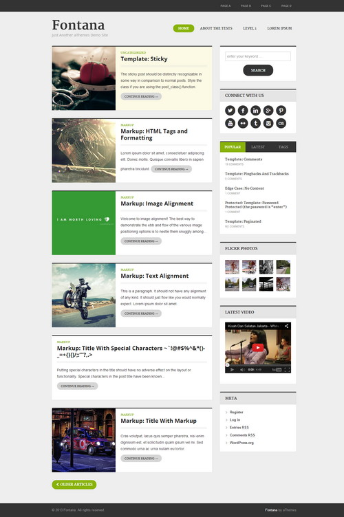 Fontana Responsive Magazine WordPress