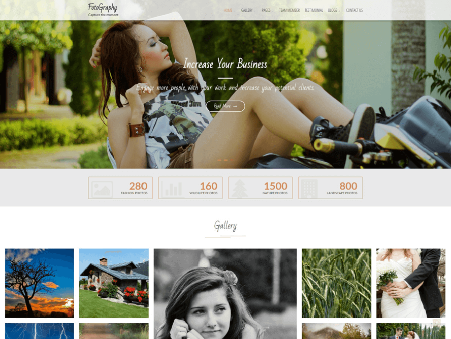 FotoGraphy photography wordpress theme 2