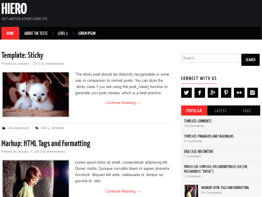 Hiero wp theme Responsive Magazine WordPress