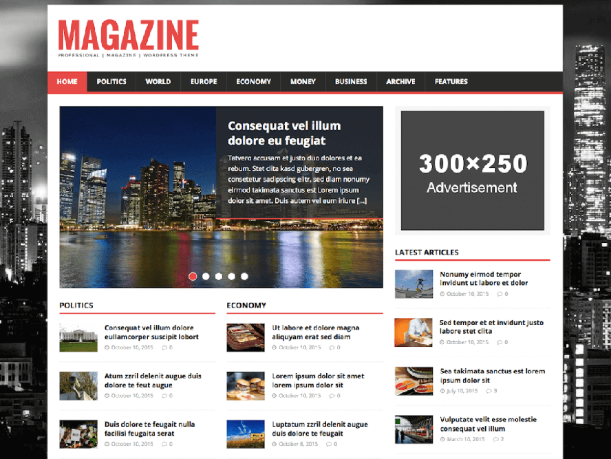 MH Magazine Lite Best Responsive Magazine WordPress Theme