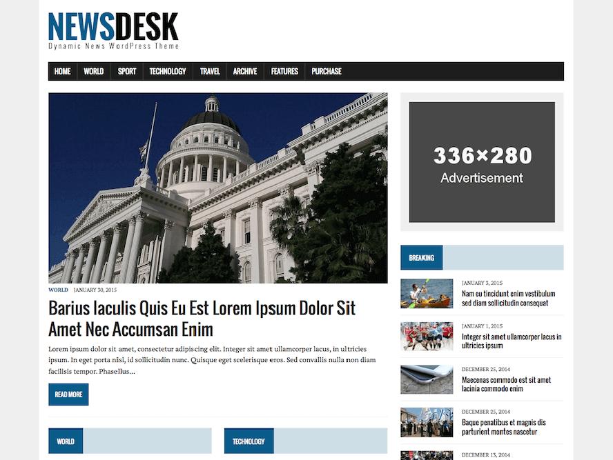 MH Newsdesk Lite Best Responsive Magazine WordPress Theme