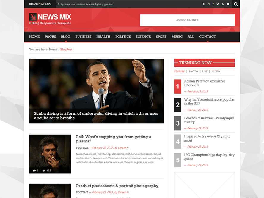 News Mix Light Best Responsive Magazine WordPress Theme