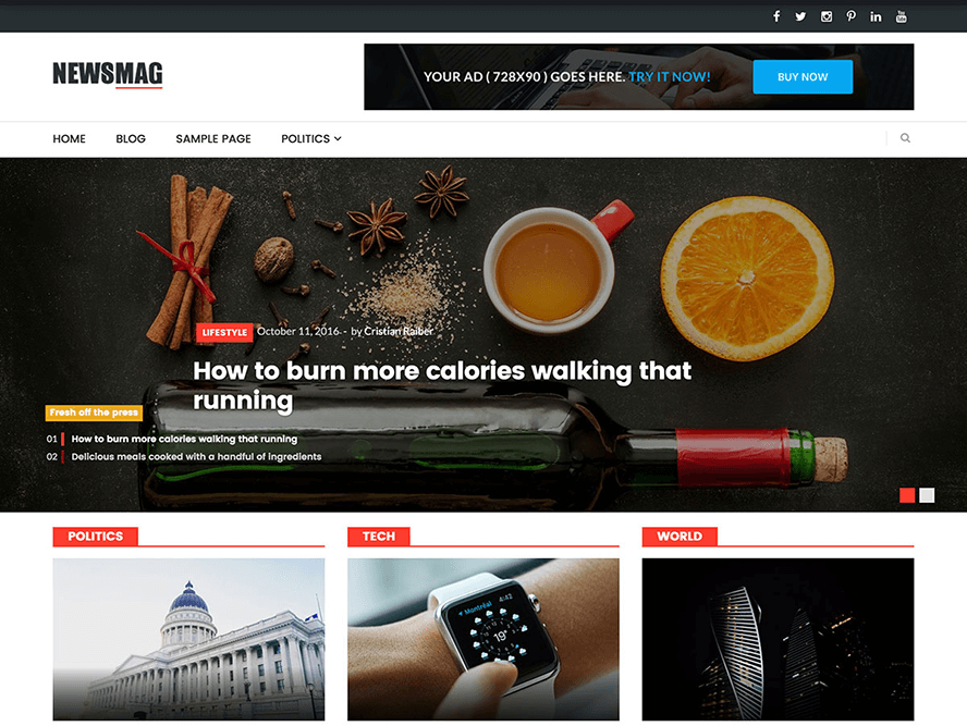 NewsMag lite magazine theme Best Responsive Magazine WordPress Theme