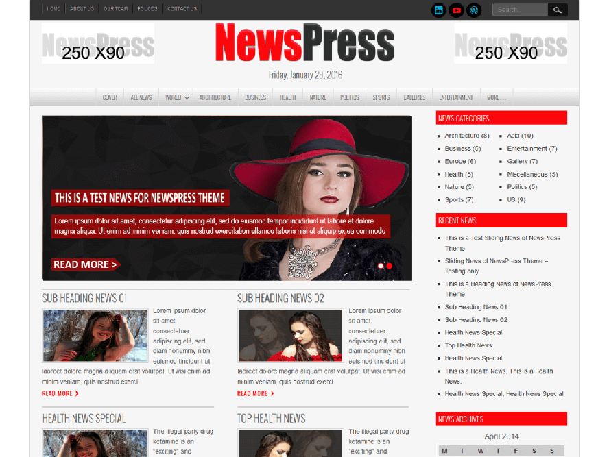NewsPress Lite Best Responsive Magazine WordPress Theme